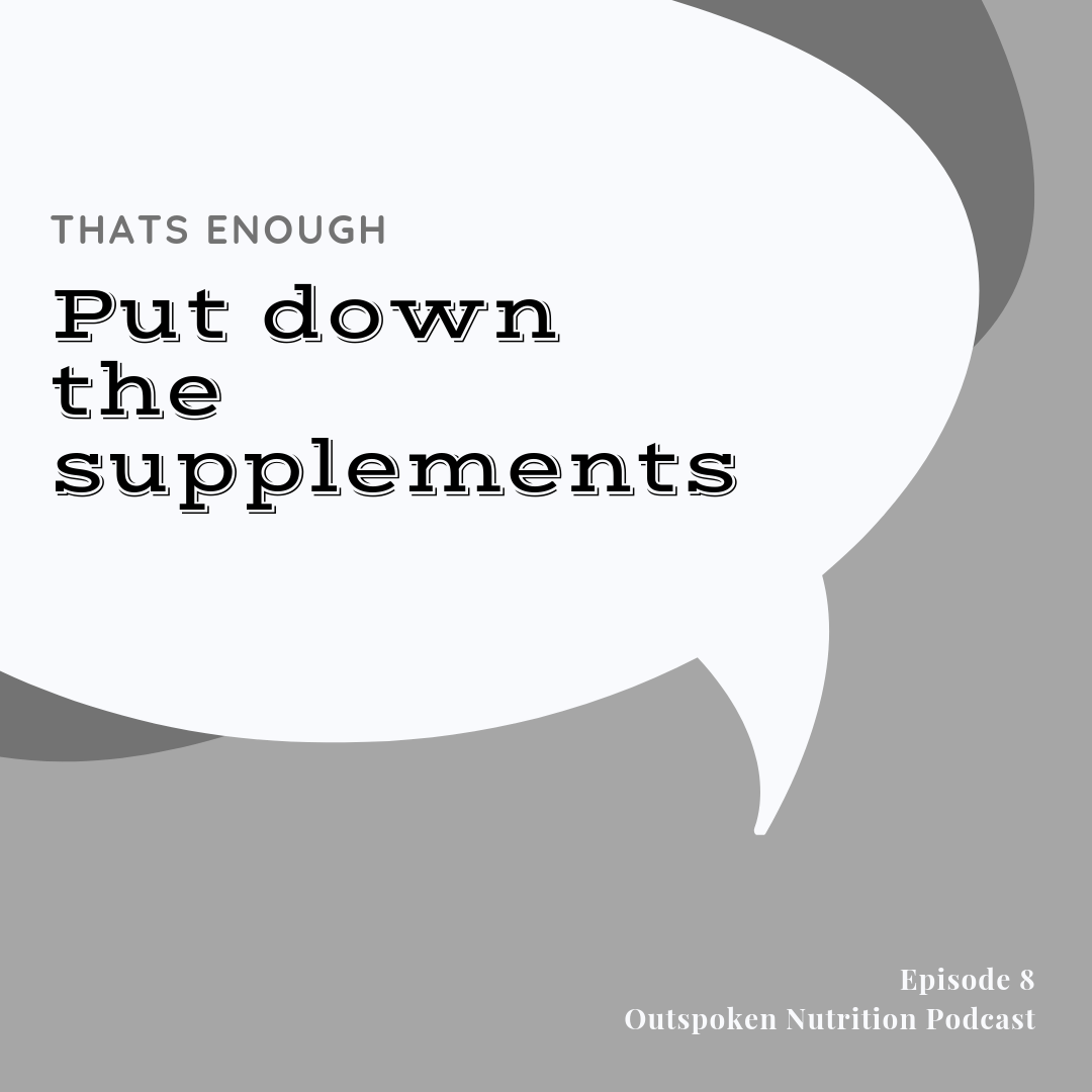This weeks outspoken nutrition podcast